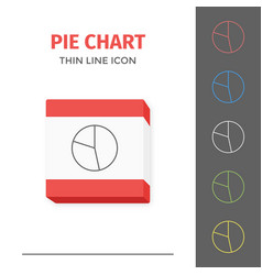 simple line stroked chart or graph icon vector image vector image
