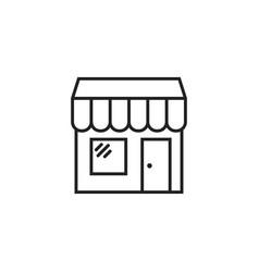 Store icon shop build vector