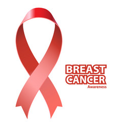 symbol breast cancer awareness vector image vector image