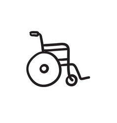 Wheelchair sketch icon vector