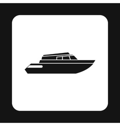 Mini yacht icon simple style vector