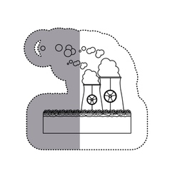 Isolated biohazard chimney design vector