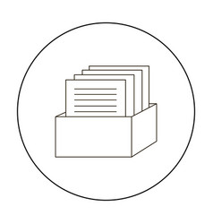 archive icon outline single education icon from vector image
