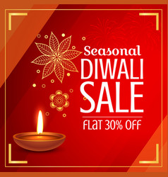 Beautiful diwali sale offer and discount with vector