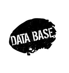 Data base rubber stamp vector