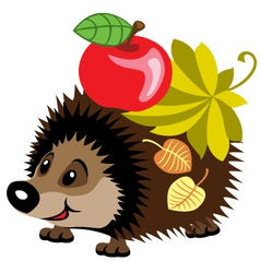 Cartoon hedgehog vector