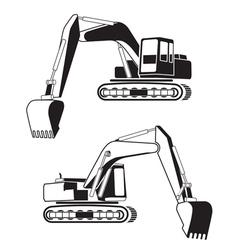 backhoe vector image