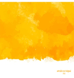 Yellow watercolor background vector