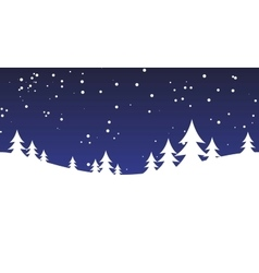 Christmas snow hills vector