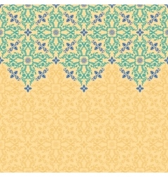 Seamless border pattern oriental ornament vector