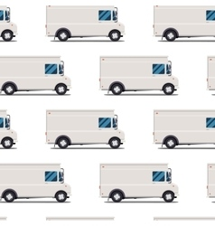 seamless pattern of delivery trucks vector image