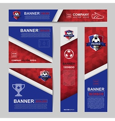 Abstract flag colour banner for Website Ads vector image