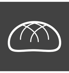 Baked bun vector