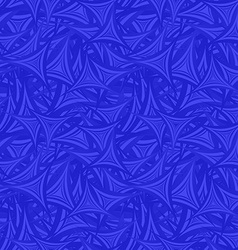 Blue seamless triangle star pattern background vector