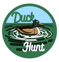 Color vintage hunting emblem vector