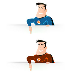 comic super hero pointing sign vector image