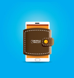 digital mobile wallet concept icon vector image vector image