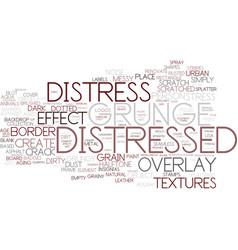 Distress word cloud concept vector