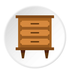 Drawer icon circle vector