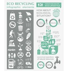 Eco infographic vector