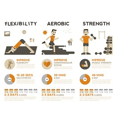 Exercise infographic vector