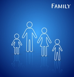 Family members icons vector image vector image