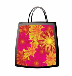 floral bag vector image