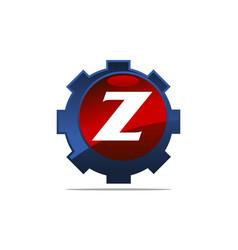 Gear logo letter z vector