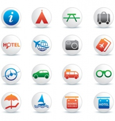global travel buttons vector image