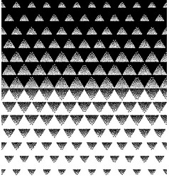 Halftone triangular pattern black and vector