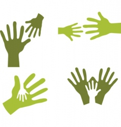 hands together vector image vector image