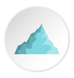 Iceberg icon circle vector