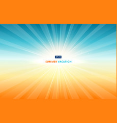 Morning sun shines in the sky in summer vacation vector