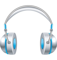 music headphones vector image