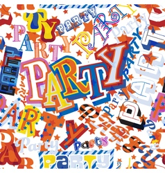 Party seamless tile vector
