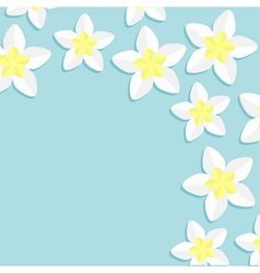 Plumeria Frangipani Tropical flower icon set vector image