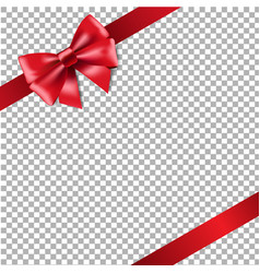 red ribbon isolated vector image vector image
