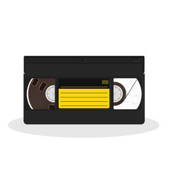 retro video cassette with black and yellow vector image