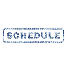 Schedule textile stamp vector
