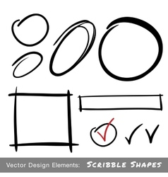Set of Hand Drawn Scribble Shapes vector image