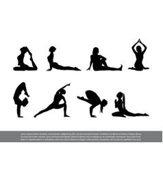 set yoga poses vector image vector image