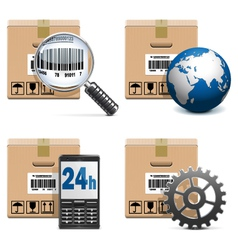 Shipment Icons Set 15 vector image vector image