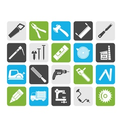 Silhouette carpentry logging and woodworking icon vector