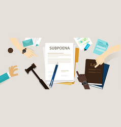 subpoena ordering a person to attend a court vector image vector image