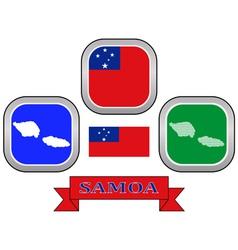 Symbol of samoa vector