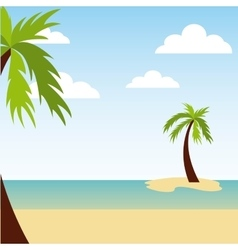 Beach landscape vacations icon vector