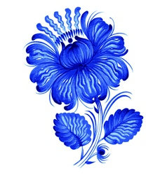 Blue flower vector