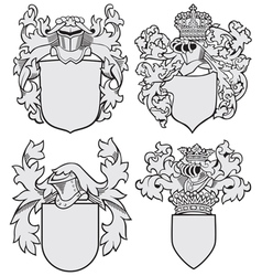 Set of aristocratic emblems no8 vector