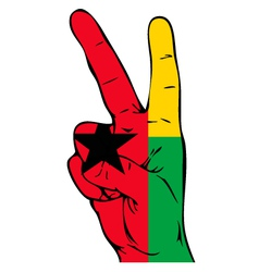 Peace sign of the guinea bissau flag vector