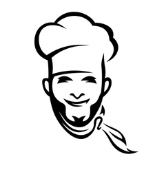 American chef vector image